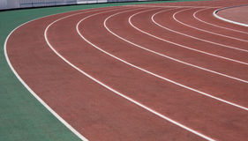 The running ways at the stadium with artificial coating of rubber Royalty Free Stock Images