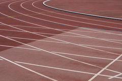 The running ways at the stadium with artificial coating of rubber Royalty Free Stock Image