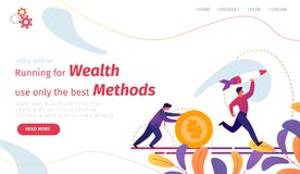 Running for Wealth Use Only the Beast Methods vector illustration