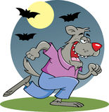 Running Werewolf in moonlight Stock Image