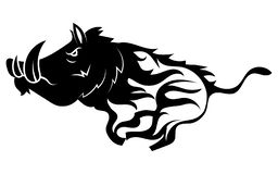 Free Running Wild Boar. Black And White Vector Illustration Of A Stylized Boar. Drawing Of A Wild Animal For Hunting. Tattoo. Royalty Free Stock Photos - 159009588