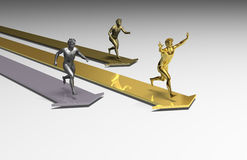Running winner. 3D achievement aspiration challenge championship Royalty Free Stock Images