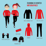 Running in winter season with wool running shirt,full zip jacket Royalty Free Stock Images