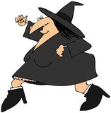 Running witch Royalty Free Stock Photo
