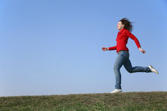 Running  woman Stock Photography