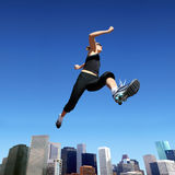Running woman Stock Photos