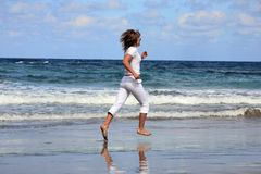 Running woman Royalty Free Stock Photo