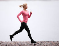 Running woman Royalty Free Stock Image