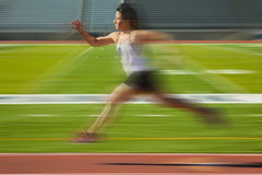 Running Woman Blur stock photography