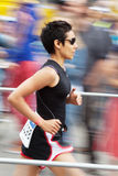 Running woman at Bonn Triathlon Stock Photography