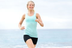 Running woman royalty free stock photography