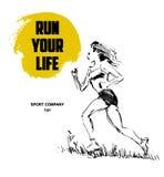 Running woman figure Royalty Free Stock Image