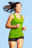 Running - Woman going for a run Royalty Free Stock Image