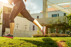 Running woman. half body photo detail Stock Photography