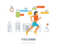 Running woman. Healthy lifestyle and fitness concept. Stock Photos
