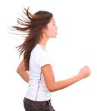 Running woman isolated royalty free stock image
