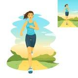 Running woman, morning jogging Stock Image