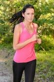 Running woman outdoor close-up Stock Photos