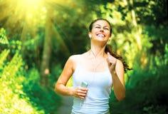 Running Woman Outdoors stock photos