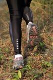 Running woman runner feet Stock Photography
