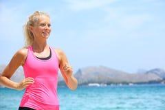 Running woman runner Royalty Free Stock Photos