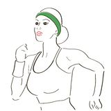 Running woman sketch Royalty Free Stock Images