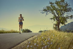 Running woman Royalty Free Stock Images