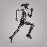 Running woman. Royalty Free Stock Images