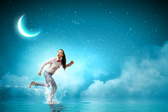 Running woman Stock Photography