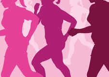 Running Women Abstract Royalty Free Stock Image