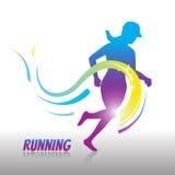 Running women logo and symbol Stock Photo