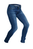 Running women's blue jeans. Running blue women's jeans isolated on white background Stock Images