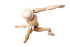 Running Wood Doll Stock Photos