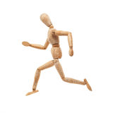 Running wood model Royalty Free Stock Photos