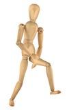 Running wooden figure stock photography