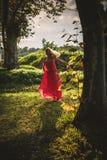 Running through the woods Stock Photo