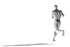 Running, workout concept. 3d Stock Photography