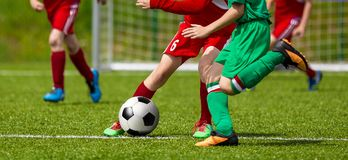 Free Running Young Soccer Football Players Royalty Free Stock Image - 108715116