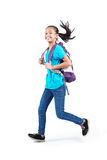 Running young student Royalty Free Stock Photo