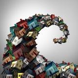 runningknot de boîtier de crise de maison de concept de fond euro Images libres de droits