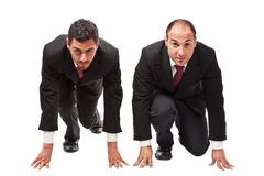 Runninng businessmen Stock Image