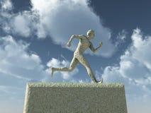 Runnning Mann Stockbild