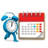Runnung Alarmer Calendar Royalty Free Stock Photos