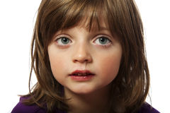 Runny nose. Cold - ill little girl Stock Photography
