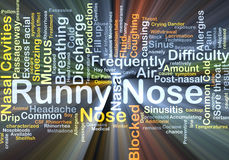 Runny nose background concept glowing Royalty Free Stock Images