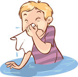 Runny nose people Royalty Free Stock Images