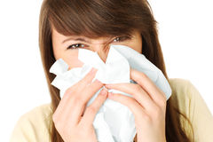 Runny nose Royalty Free Stock Photos