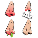 Runny Nose Set Royalty Free Stock Photo