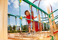 Runny on playground constraction Stock Image