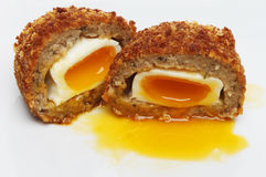 Runny Scotch egg Stock Photography